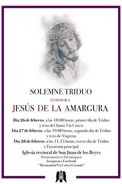 Triduo Jesús de la Amargura 20210224